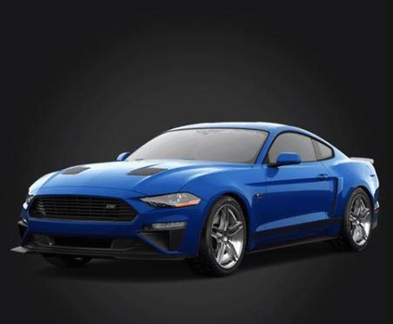 Blue 2018 Roush Mustang - Blue 2018 Roush Mustang