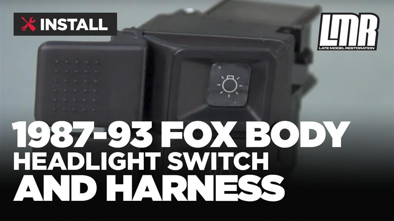 Install Fox Body Mustang Headlight Switch And Harness E C on 2015 Ford Body Parts Diagram