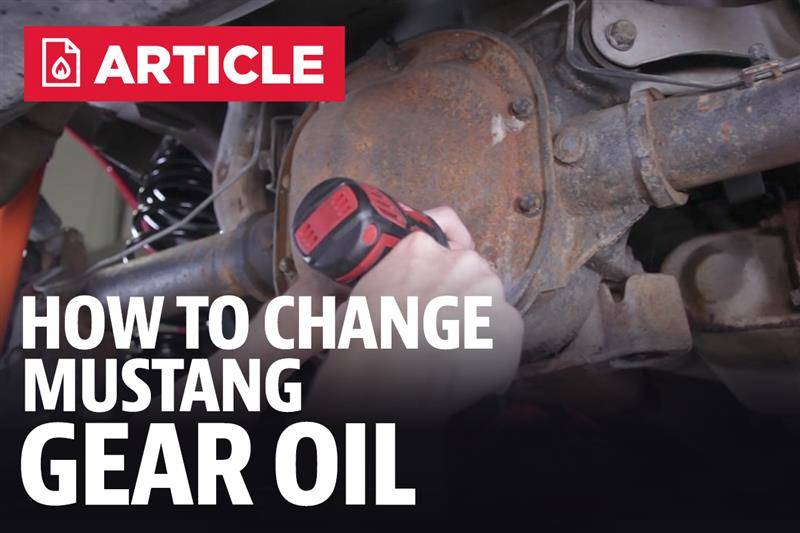 How To Mustang Differential Fluid Change