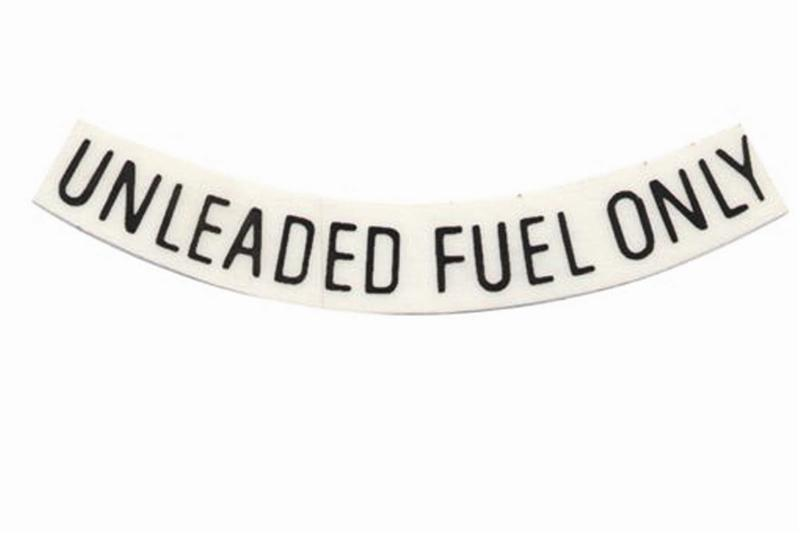 mustang unleaded fuel decals