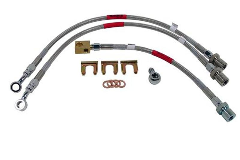 94-98 Mustang SVT Cobra Russell Braided Stainless Steel Brake Line Kit 2 Front